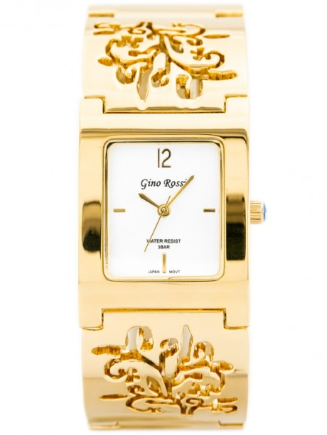 GINO ROSSI - 7663B (zg504c) gold/silver/flowers