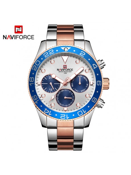 NAVIFORCE - NF9147 (zn078a) - silver/rose + box