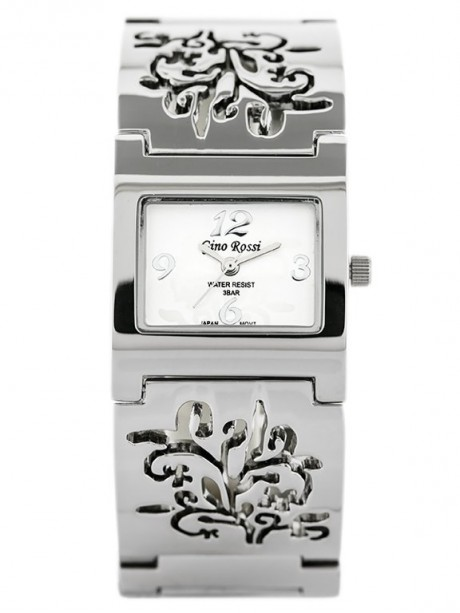 GINO ROSSI - 7664B (zg506a) silver/flowers