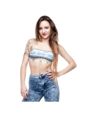 TUBE TOP AZTEC MORSKI
