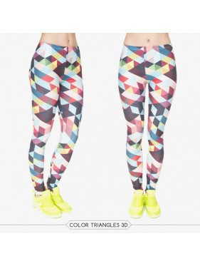 LEGGINSY COLOR TRIANGLES 3D