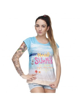 t-shirt woman druk BEST HOLIDAYS