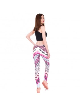 LEGGINSY PINK AZTEC WORK OUT
